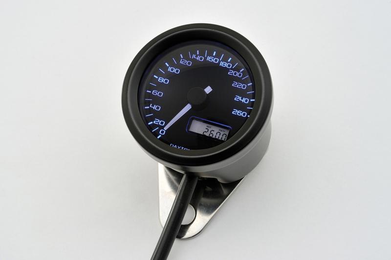 DAYTONA VELONA, Digitaler Tacho, bis 260 km/h,  rund Ø 48 mm, schwarz – Bild 2