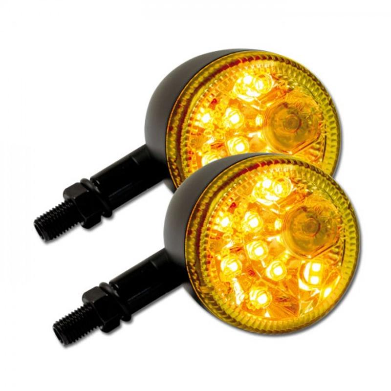 "Paar schwarz LED-Blinker Standlichtkombi /""Dual/"" Paar L 50 x T 20 x H 18 M8"