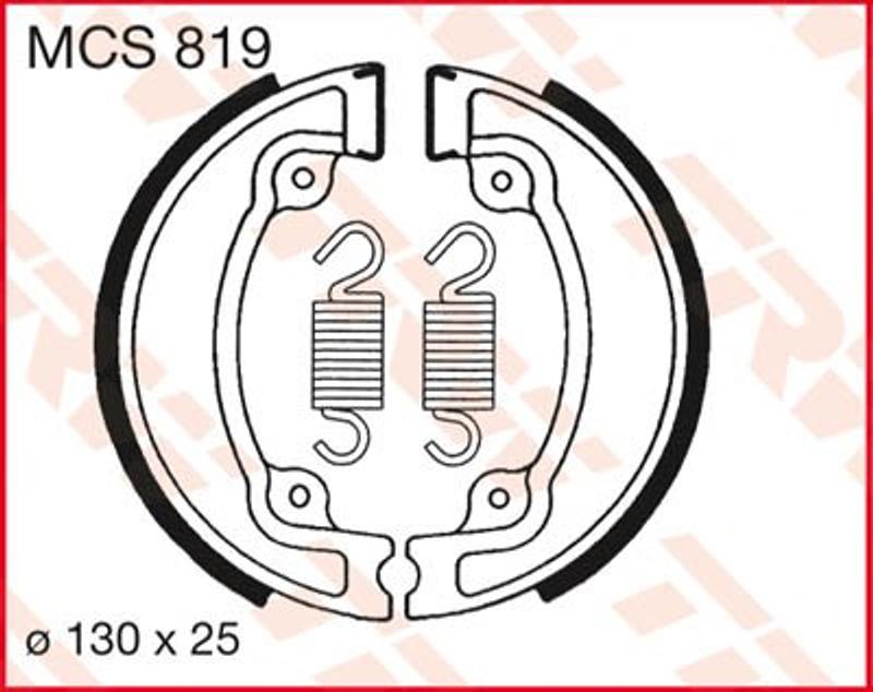 Bremsbacken MCS819
