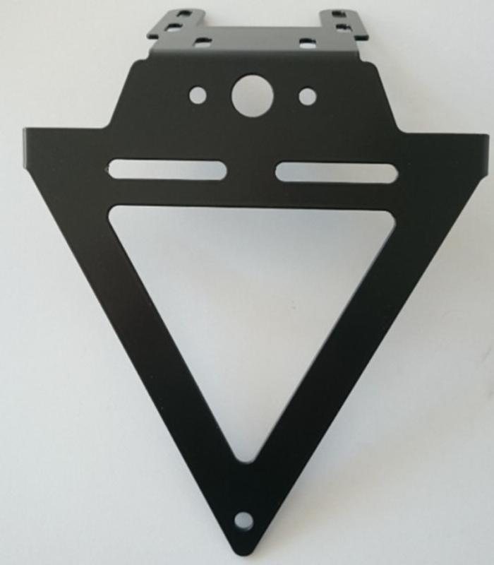 Kennzeichenhalter UNIVERSAL, schwarz, starr, Breite 195mm, Lochabstand KZB 45mm – Bild 1