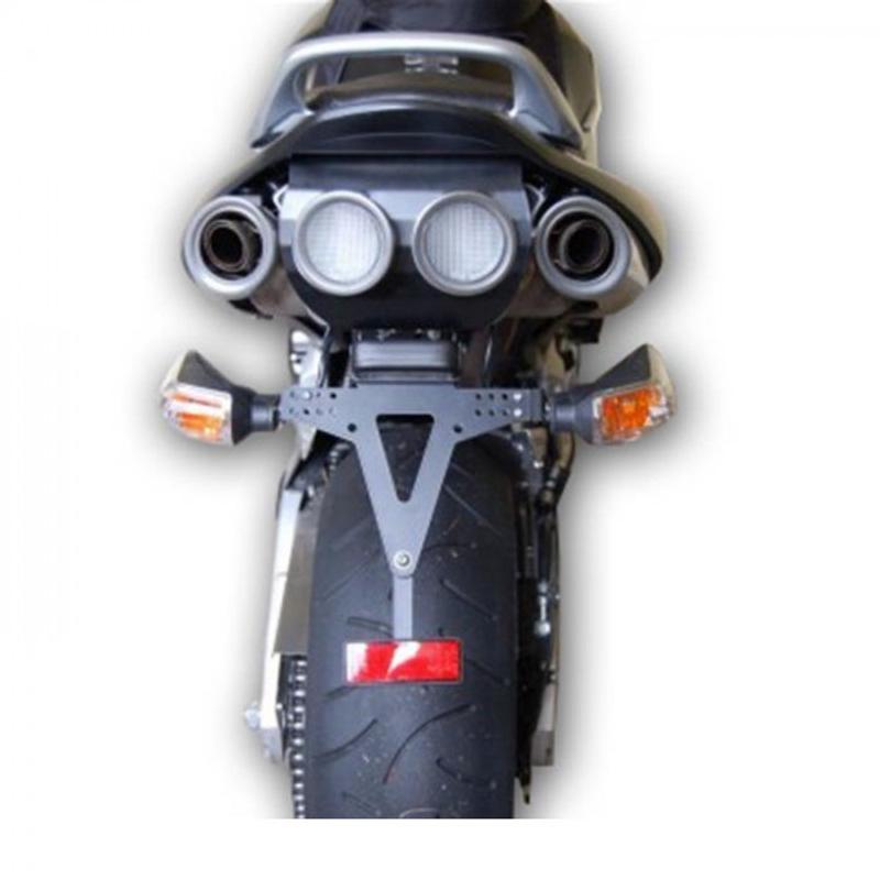 Kennzeichenhalter SUZUKI GSR 600, Bj. 06-11, verstellbar, schwarz, inkl. Reflektorhalter – Bild 2