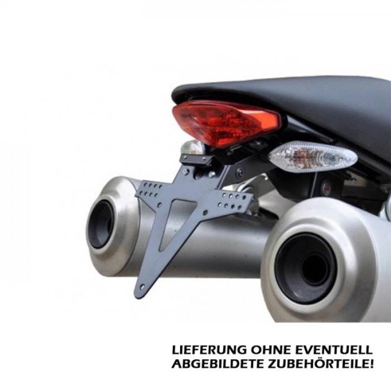 Kennzeichenhalter DUCATI Monster 796, Bj. 10-14, 1100/S, schwarz, verstellbar,inkl. Reflektorhalter