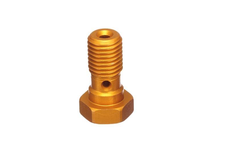 ABM Hohlschraube Alu M10 x 1,0, gold