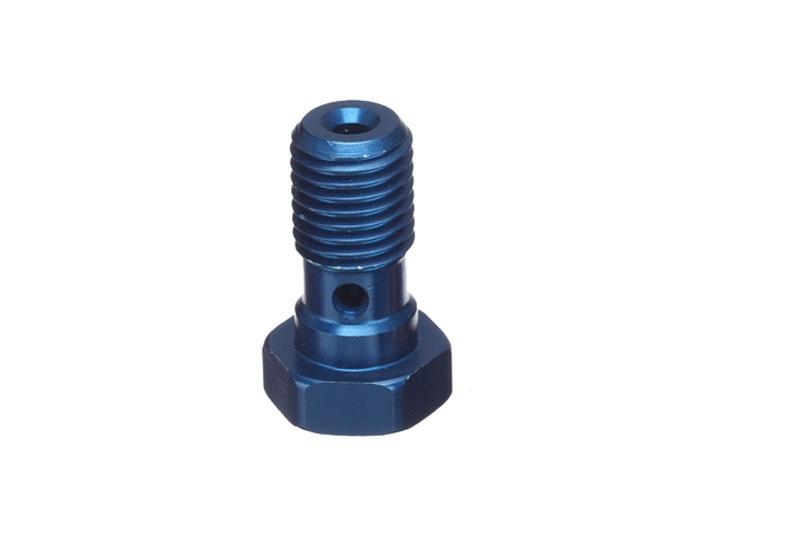 ABM Hohlschraube Alu M10 x 1,25, blau