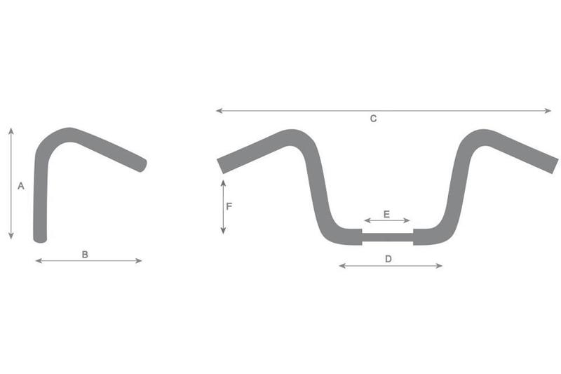 HIGHWAY HAWK Lenker STRAIGHT 1 Zoll (25,4 mm) für HARLEY-DAVIDSON – Bild 1