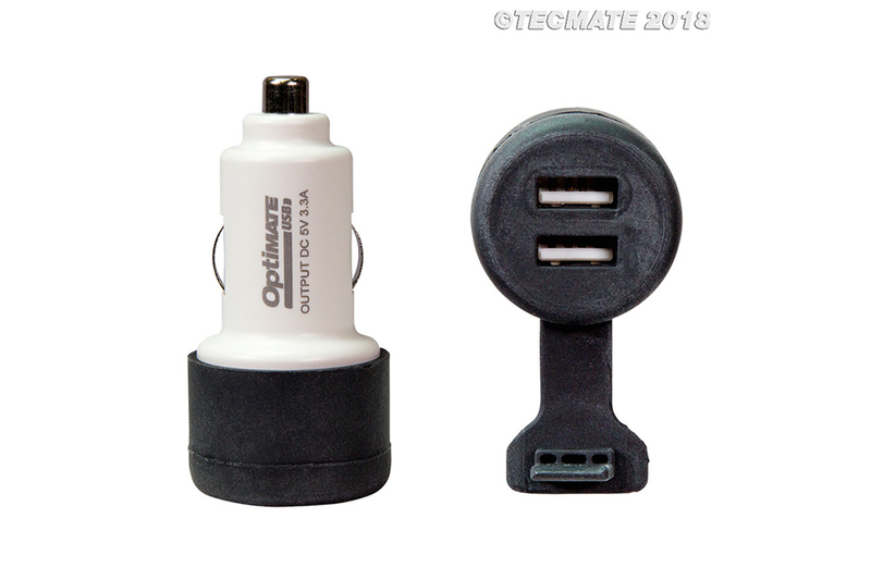 OPTIMATE Ladeadapter Auto-Steckdosenstecker auf 2x USB (No.106)