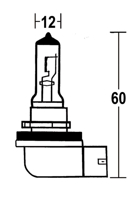 - Kein Hersteller - H8 Glühlampe 12V 35W PGJ 19-1