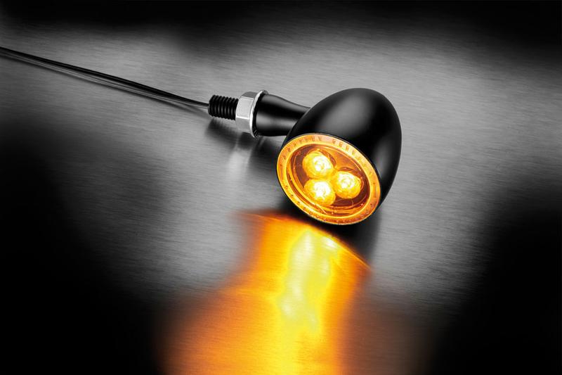 Kellermann LED-Blinker Bullet 1000 Dark, schwarz, getöntes Glas – Bild 2