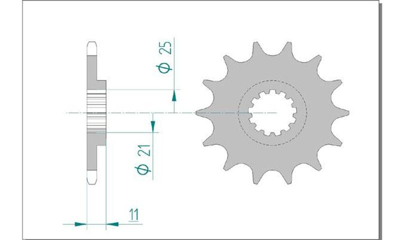 AFAM Kettensatz Alu, HUSQVARNA CR 250, mit A520MX4-G Kette – Bild 3