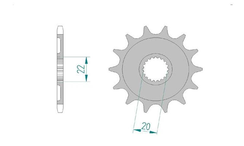 AFAM Kettensatz Alu, GAS-GAS EC 300 F, mit A520XRR3-G Kette – Bild 3