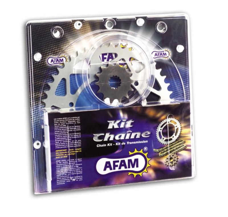 AFAM Kettensatz Alu, HUSQVARNA TE 450, mit A520XRR3-G Kette – Bild 1