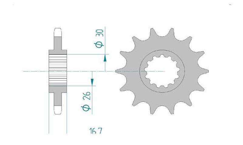 AFAM Kettensatz Alu, HONDA CBR 600 RR 3, mit A525XSR2-G Kette – Bild 3