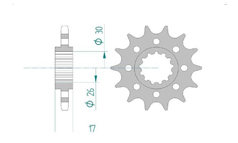 AFAM Kettensatz Alu, HONDA CBR 1000 RR Fireblade 8, mit A525XHR3-G Kette – Bild 3