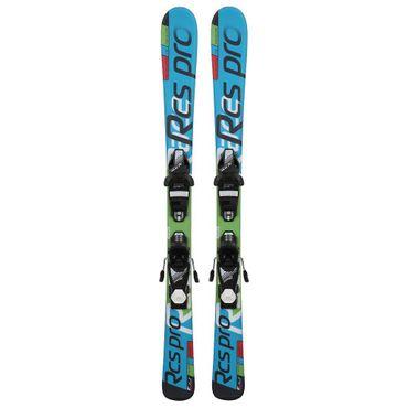 V3Tec Race RCS Jr. Kinder Ski Skiset inkl. SLR 4.5 Bindung - blau/grün