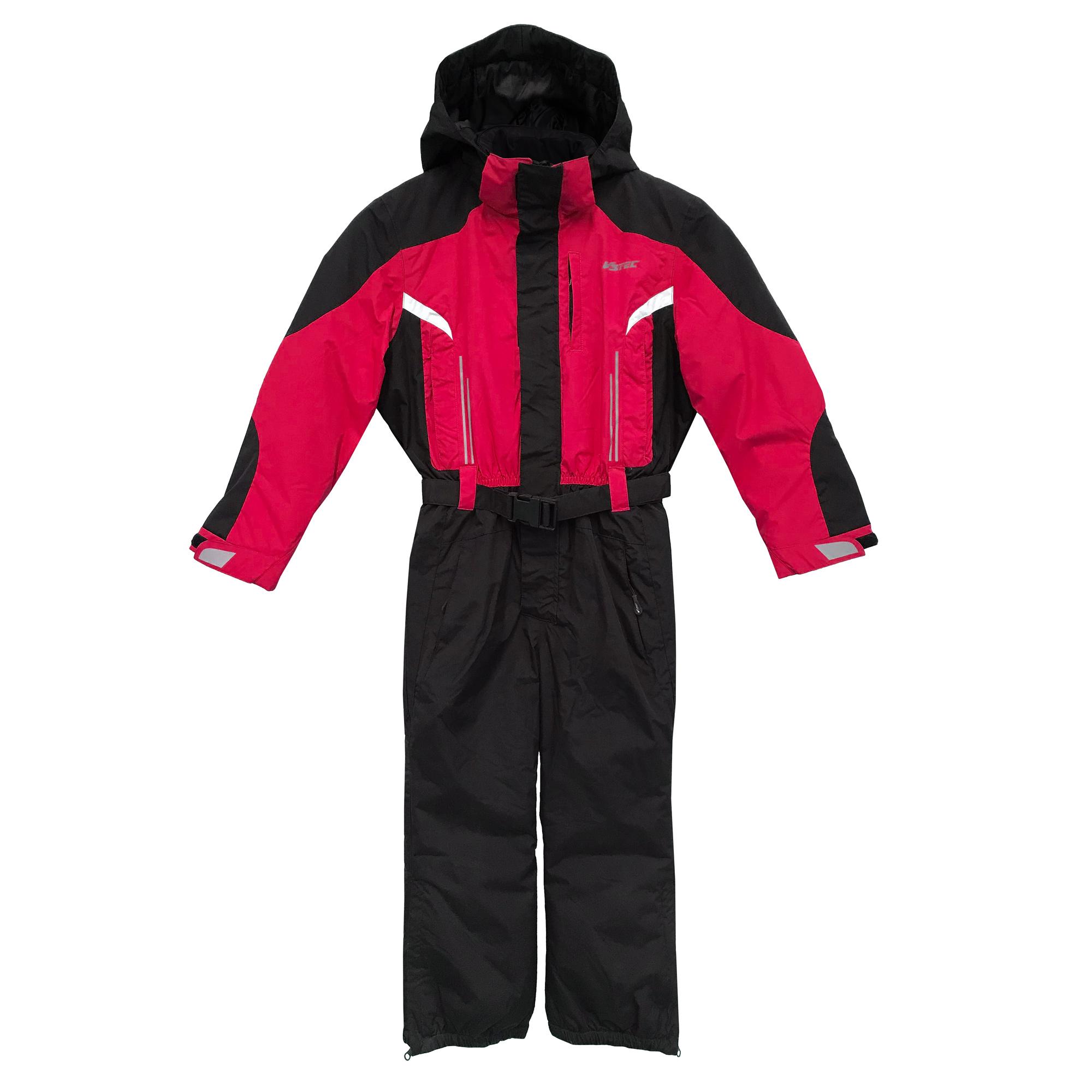 V3Tec Parsel Kinder Skioverall Schneeanzug – 117568-3016 – rot/schwarz