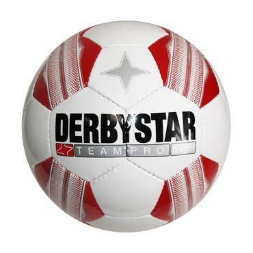 Derbystar Teampro Super Light - Fussball Trainingsball - weiß/rot