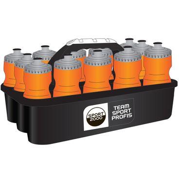 Sport 2000 Teamsport Profi Trinkflaschencontainer mit 12 Flaschen 129334 orange