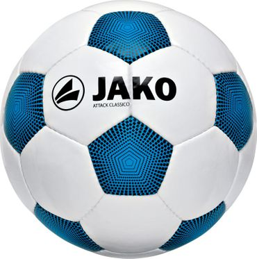 Jako Ball Attack Classico - Fussball Trainingsball Gr.5 - 2381 weiß/blau