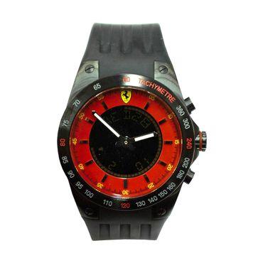 Scuderia Ferrari Fan Herren Uhr Digitaluhr Armbanduhr - 270012975 schwarz/rot