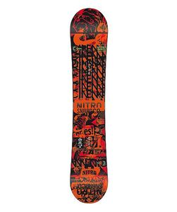 Nitro Cinema Wide Gullwing Snowboard -  rot/schwarz - 835621-001