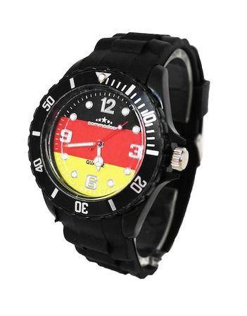 Deutschland Fan-Armbanduhr mit Silikonarmband