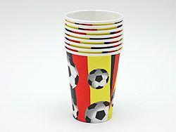 Deutschland Fan Becher - 20 Stück - Deutschland Pappbecher - 69103