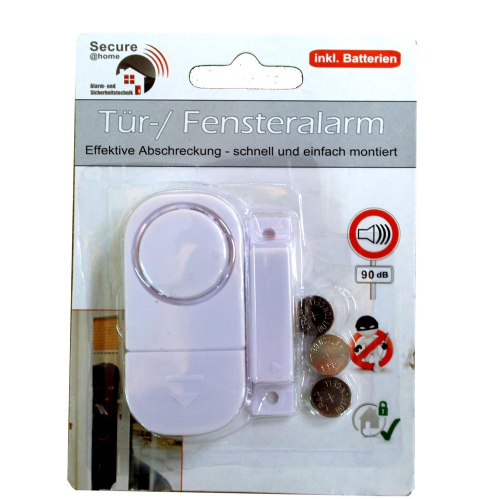 Secure home Tür-/Fensteralarm, lauter 90dB Alarmton inkl. Batterien