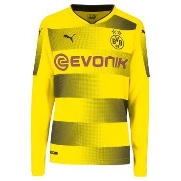 Puma BVB Borussia Dortmund LS Kinder Heim Trikot 17/18 - 751682-01