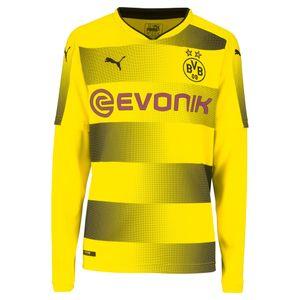 Puma BVB Borussia Dortmund - LS Kinder Langarm Heimtrikot 17/18 - 751682-01 gelb