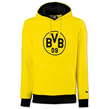 Puma BVB Borussia Dortmund Badge Hoody 17/18 - Kinder Kapuzensweat - 750126-01