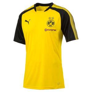 Puma BVB Borussia Dortmund Kinder Trainingsshirt mit Sponsor 17/18 - 751765-01
