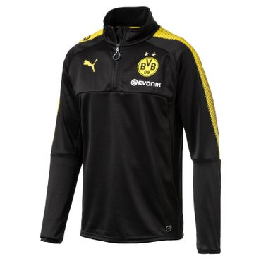 Puma BVB Borussia Dortmund Kinder Training Top BVB 1/4 Ziptop 17/18 - 751777-02