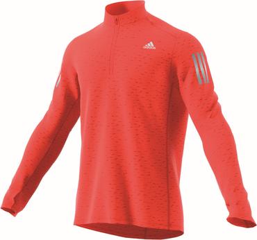 adidas Response Herren Langarm Half-Zip Sweatshirt Shirt - B47698