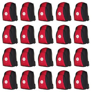 20x Nike Total 90 Swoosh Backpack Rucksack - 594184-648 rot
