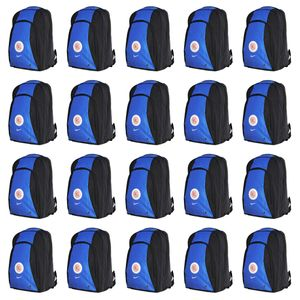 20x Nike Total 90 Swoosh Backpack Rucksack - 594184-433 blau