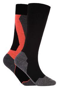 Icepeak Melma - 2 Paar Damen Skisocken Snowboard Socken - 855883500-990 schwarz