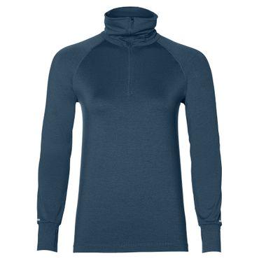 Asics Thermopolis LS 1/2 Zip - Damen Laufshirt Running Shirt - 154547-8297 blau