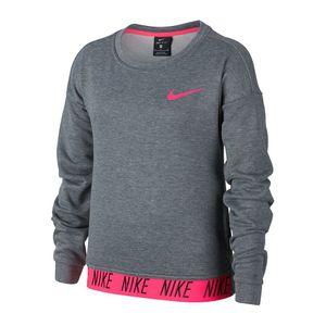 Nike Dry Hoodie Core Studio - Mädchen Training Sweatshirt - 890281-092 grau/pink
