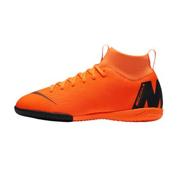 Nike Jr. MercurialX Superfly VI Academy IC - Kinder Fußballschuhe Halle - AH7343-810 orange