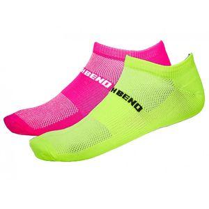 North Bend ExoCool Socks - 2er Pack Damen Socken - 135307-4003 pink/neongelb