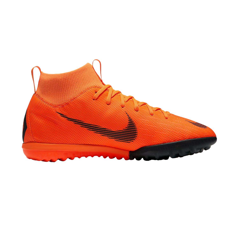 Nike Jr Mercurialx Superfly Vi Academy Tf Kinder Fussballschuhe Ah7344 810 Orange Schwarz