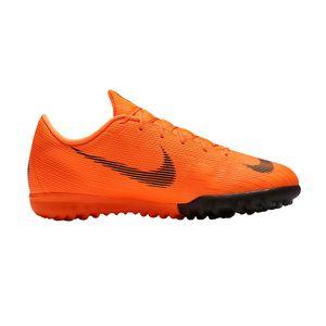 Nike Jr. MercurialX Vapor XII Academy TF - Kinder Fußballschuhe Multinockenschuhe - AH7342-810 orange/schwarz