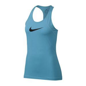 Nike Pro Tank Top - Damen Fitnessshirt Running Top - 889542-407 aqua-schwarz