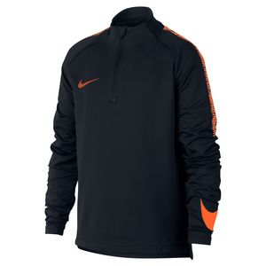 Nike Dri-Fit Squad Drill - Kinder Sweatshirt - 859292-015 schwarz/orange