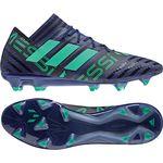 adidas Nemeziz Messi 17.1 FG - Herren Fußballschuhe Nockenschuhe - CP9029 schwarz/grün 001