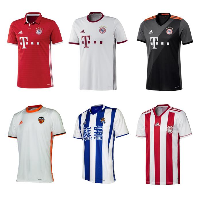 Details Zu Adidas Fussball Trikot Fc Bayern Fc Valencia Real Sociedad Olympiakus Piraus