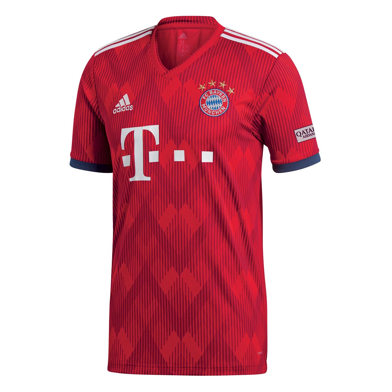 b8ed230a4c347a adidas FC Bayern München Herren Heimtrikot 18 19 - CF5433 rot ...