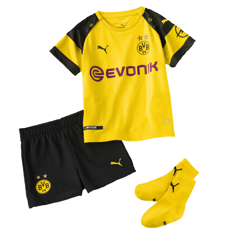 Puma BVB Borussia Dortmund Home Babykit mit Socken 18/19 – 753316-01 gelb