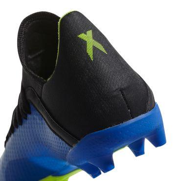 adidas X 18.3 FG J - Kinder Fußballschuhe Nockenschuhe - DB2416 blau/gelb