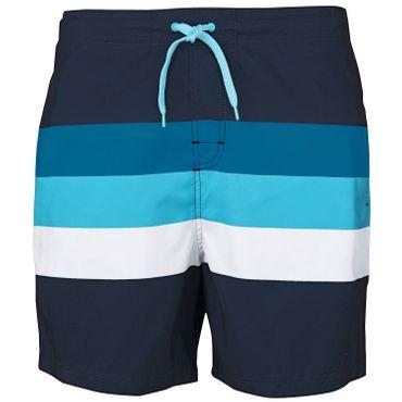 Stuf Laos Herren Beachshorts Badeshorts - 136020-5831 navy/blau/weiß